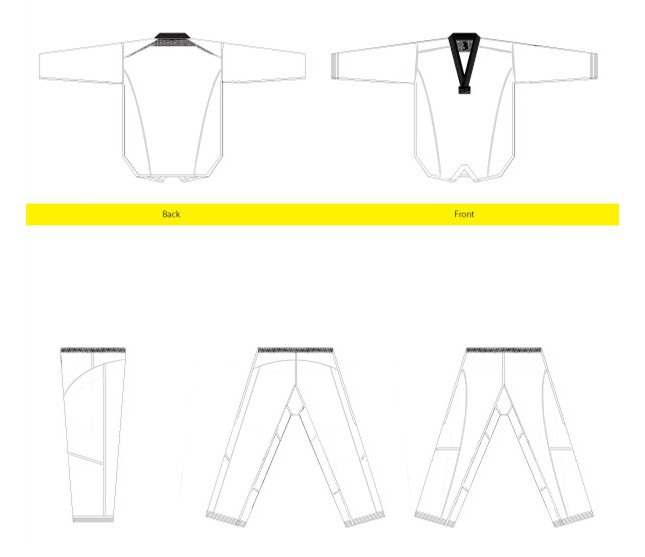 2016 new style technique taekwondo uniform south korea