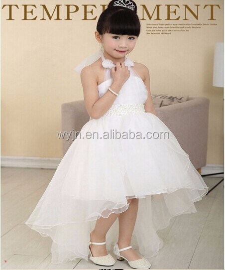 Newly Summer Princess Wedding Bridesmaid flower girl dress for Child wear Kids clothes white party tutu dresses for girl !!