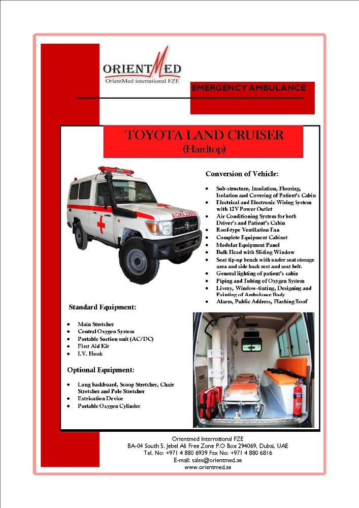 TOYOTA LAND CRUISER HARDTOP AMBULANCE 78 SERIES