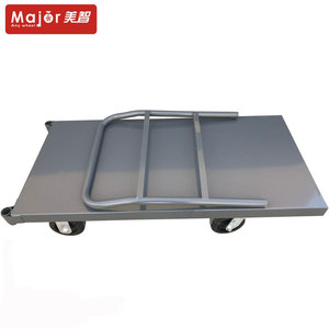 Four wheeled PLATFORM HAND TRUCK, wheel load-bearing capacity 300KG flat car, suitable for workshop.