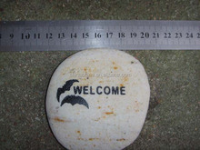 fashion new arrival bird engraved welcome garden stone