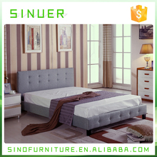Hot selling eco-friendly fabric modern designs wooden king size bed frame