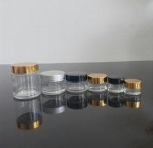 5g 10g 20g 30g 100g cosmetic packaging clear glass jar for face cream