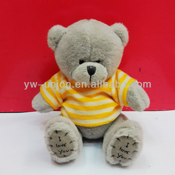 15cm Pink T-shirt Sale Grey Plush Teddy Bear