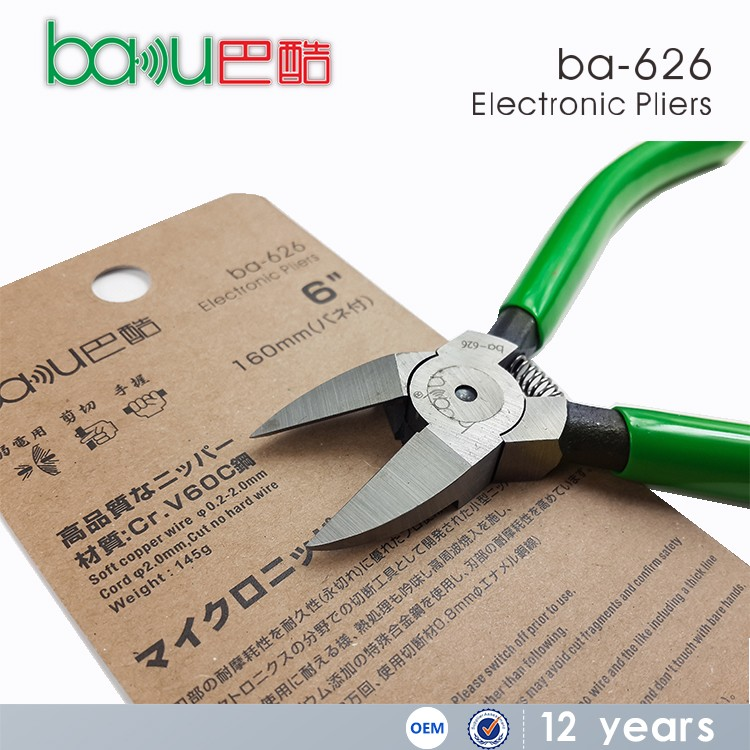 BAKU Ba-626 New Design Stainless Steel Diagonal Pliers Hand Tool Cutting Pliers