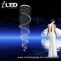 D800*3000mm high quality Super Luxury Modern LED crystal chandelier dinning room ceilling lamp