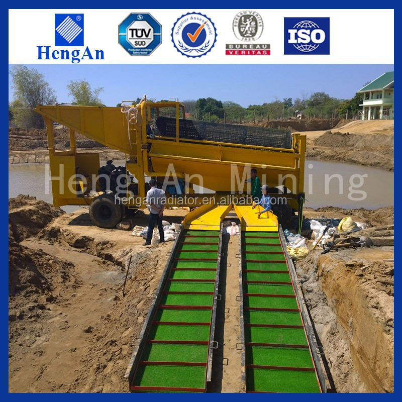 Benefication alluvial gold washing plant
