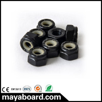 Skateboard black color hardware bolts parts imperial screws