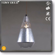 Mini Lounge Chandelier Uk , Retro Galvanized Pendant Lamp
