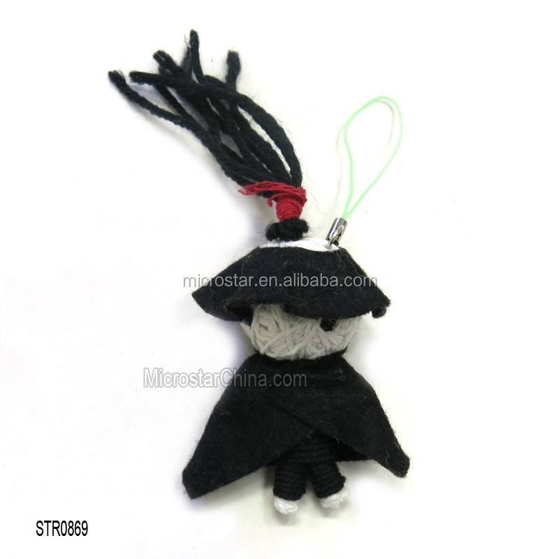 STR0869 chain black chinese handmade cheap voodoo doll
