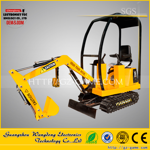 0.6m Max dig depth kids ride on excavator toys machine for sale