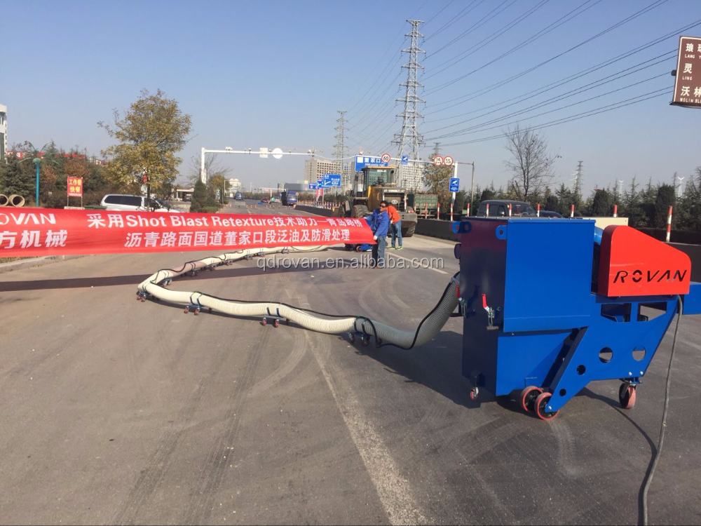 China Best Offer Movable Road Shot Blasting Machine Rovan Made