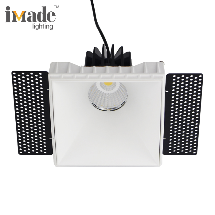 Superior heating output 13w cob recessed dimmable square led downlight