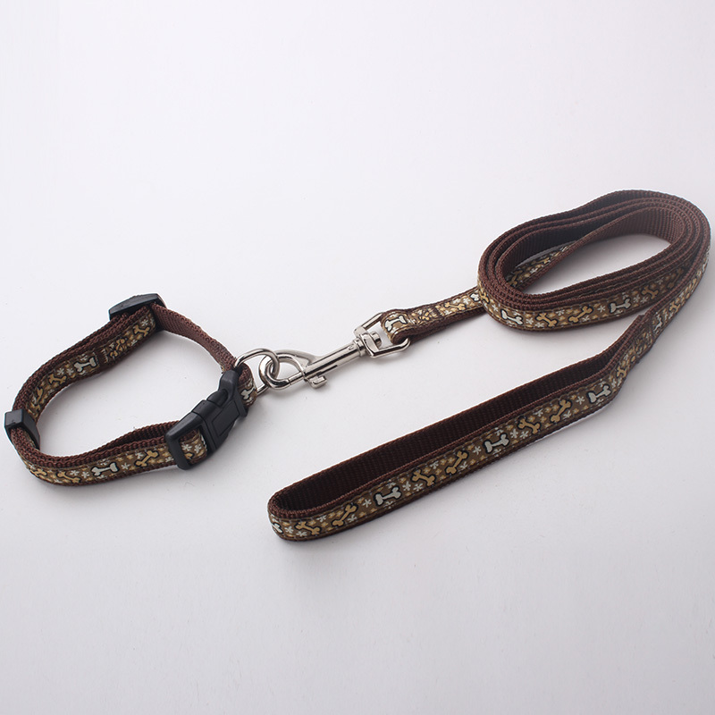 Custom dog collar and leash s m l xl four size accept high quality