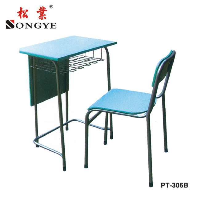 2018 student desk and chair Single student tables Single student table school furniture