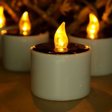 Simulated Solar LED tealight Candle home derection flicker Tea light