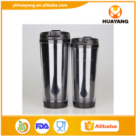 2016 Hot sale eco-friendly PS plastic starbuck customize plastic tumbler with cover