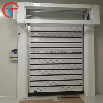 Insulated high speed aluminum roll up door for cold room