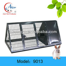 large metal outdoor rabbit house
