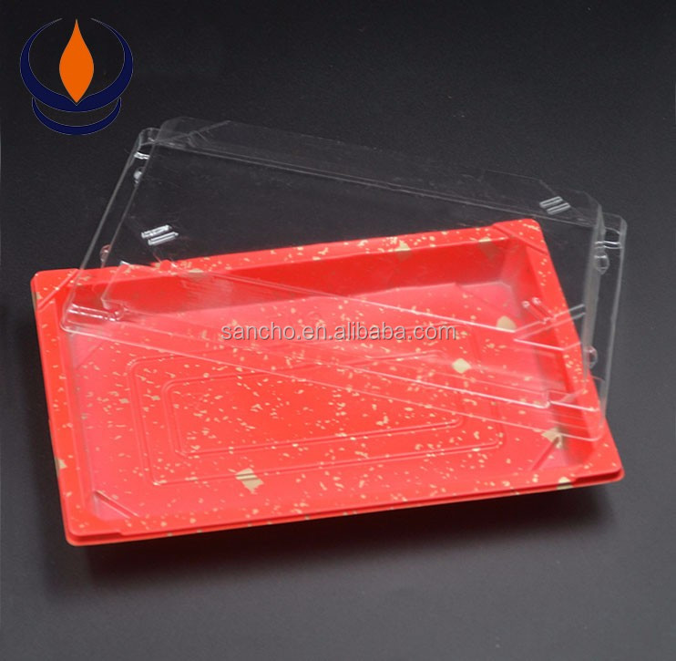 China suppliers disposable printed sushi plastic blister trays