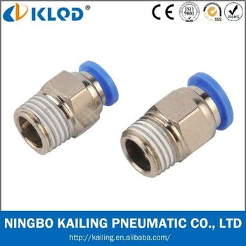 male straight air fittings, PC6-02, brass material