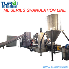 shandong PP PE waste plastic film pelletizing granulation extrusion line