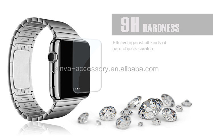 Wholesale 0.3MM 2.5D Screen Protector For Apple i-watch Tempered Glass