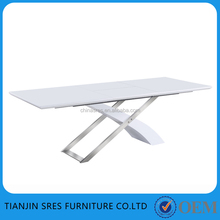 6-8 seater high gloss extendable dining table big size coference table office meeting room