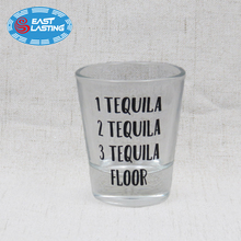 Personalized 1.7oz custom mini tequila shot glass for birthday and holiday decor