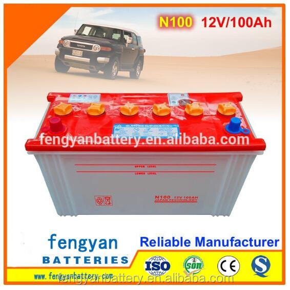Cheap 12v 100ah Super Power Auto Starting dry charged car battery wholesale