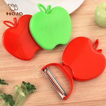 High quality fruit paring knife stainless steel small peeling knife,fruit plastic kitchen apple shape paring knife