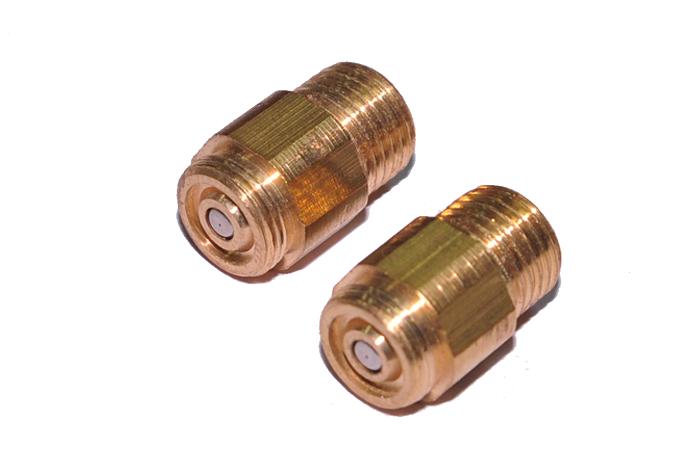 B gas nozzle fittings brass pilot parts view