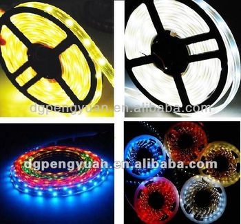 Hot selling!5m/roll SMD 3528 RGB waterproof 300 LED Flexible led light strip+24 Key IR Remote controller