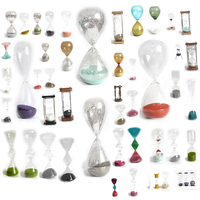 creative glass egg timer sand hourglass