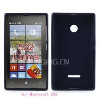 Hot selling soft back cover tpu case for Nokia Lumia 532