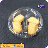 PET plastic food tray with dividers/PP disposable plastic snack tray with dividers