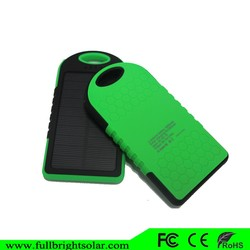 5000mAh battery solar charger case and power bank for iphone
