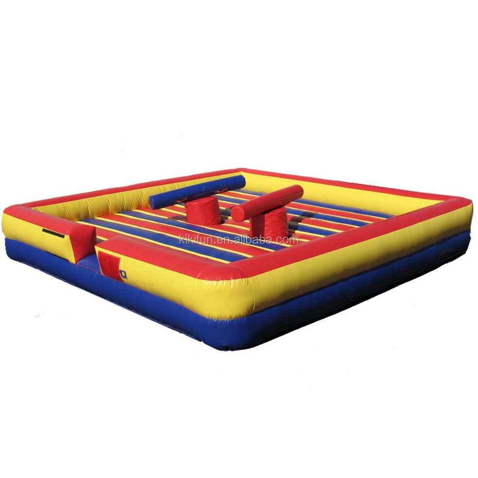 Outdoor inflatable interactive sports gladiator jousting arena sale / inflatable carnival gladiator games for kids and adults