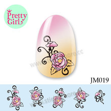 Best Price Private Label Flower Nail decals, nail arts, water slide nail decals JM019