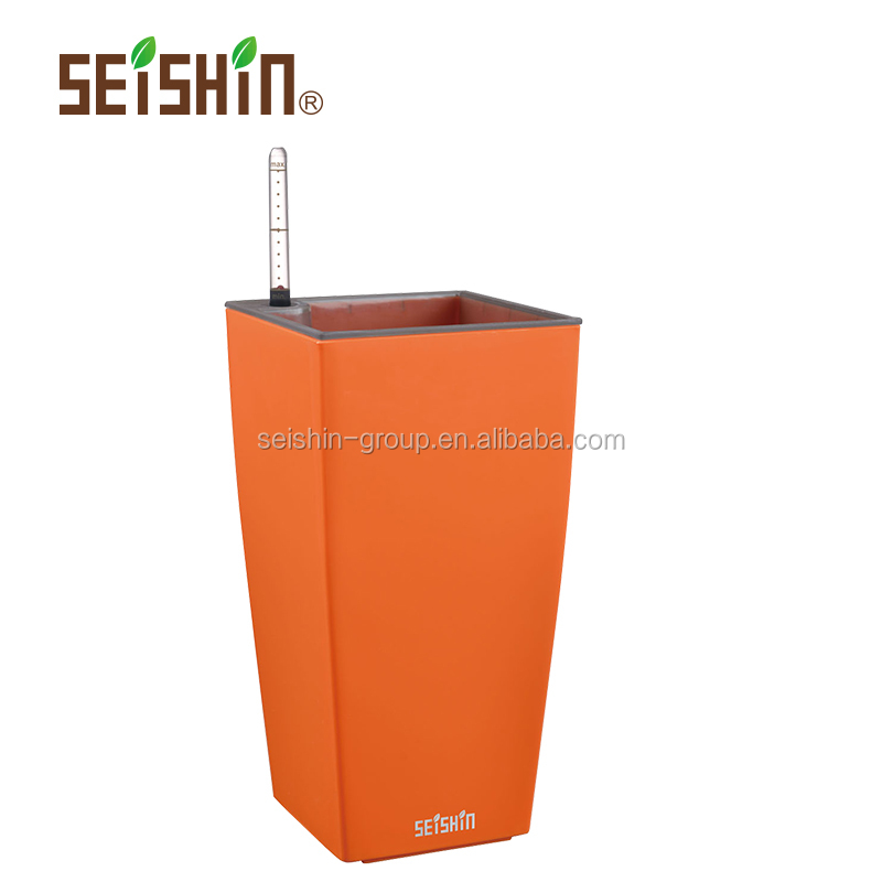 Top Quality PP Plastic Type Self-watering Roman Style Flower Pot
