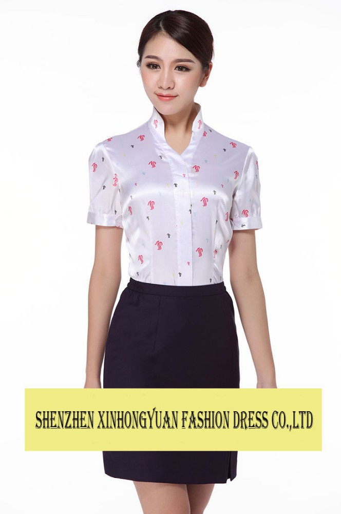 Elegant skirt suit flight attendant uniform, fashion skirt airline stewardess uniform,hot tailored Stewardess uniform