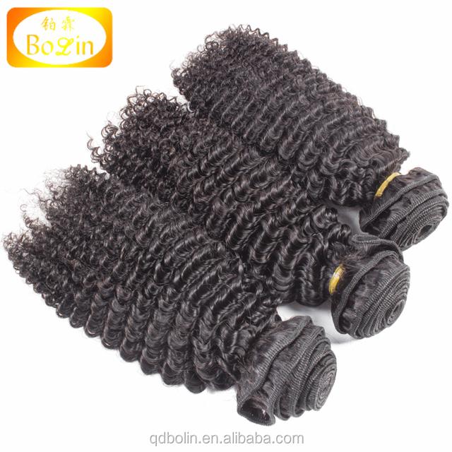 Alibaba Onlian Sale Human Hair Weaving Supplier Mongolian Remy Bundles Virgin Natural Color Afro Curl Wefts