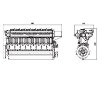 8300 series diesel engine with 8 cylinders