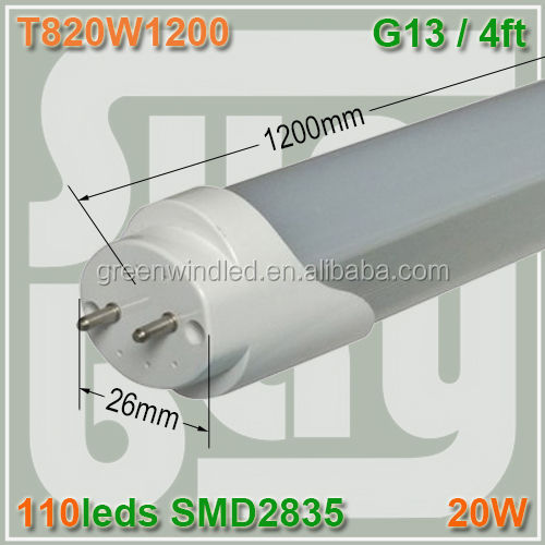 directly replace fluorescent tube compatible with electronic ballast led tube 12 leds