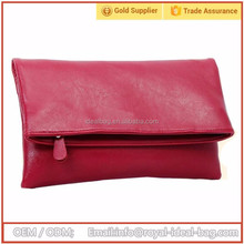 Cheap price custom PU leather woman envelope clutch bag messenger bag for lady wholesale