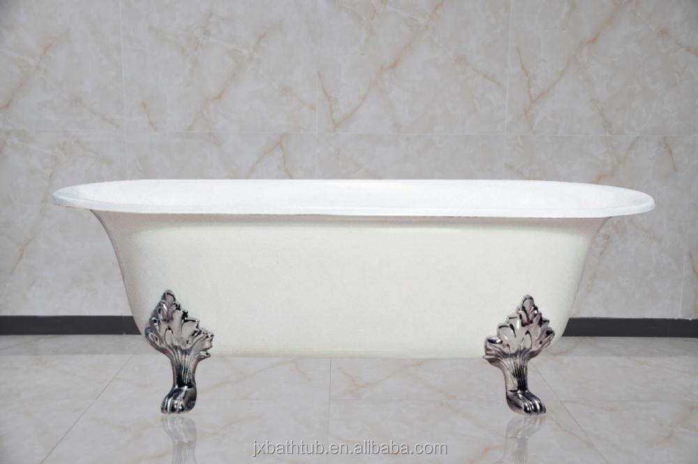 bath feet antique portable soaking cast-iron enamel free standing bath tub for baby use