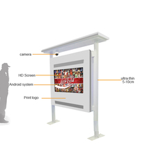 70'' High brightness Full View outdoor standalone bus digital signage advertising machine with camera/thinder protection