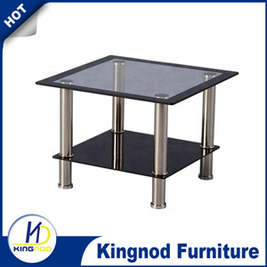 Home furniture use square shape Small Glass Coffee Table