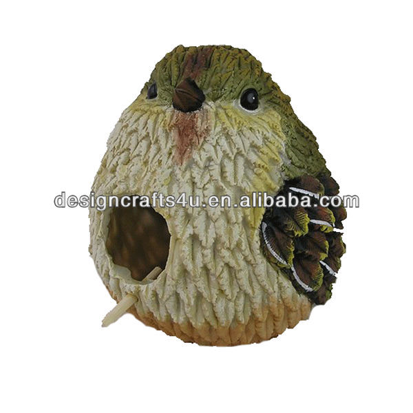 song bird shaped hanging resin bird house