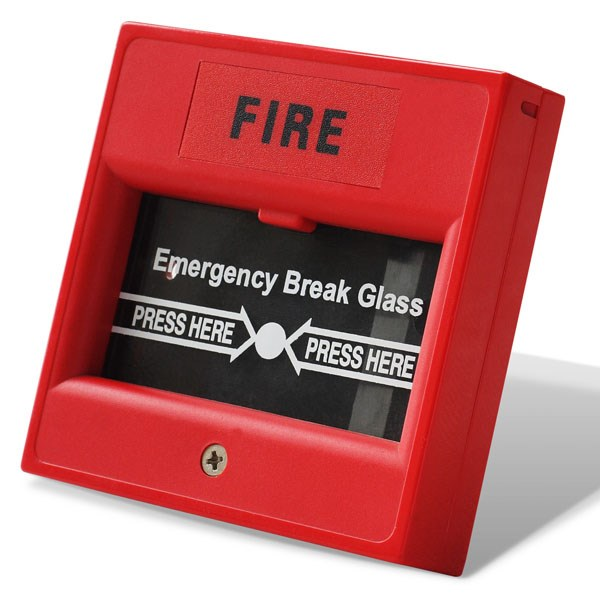 DC12V Conventional Fire alarm glass break manual call point